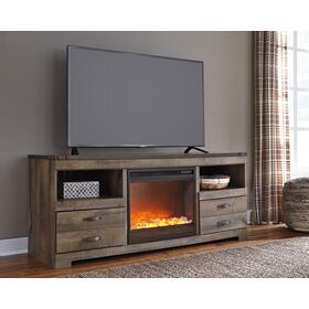 Trinell LG TV Stand W/ Fireplace Insert Brown