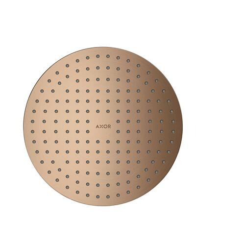 Brushed Red Gold Overhead shower 250 1jet ceiling