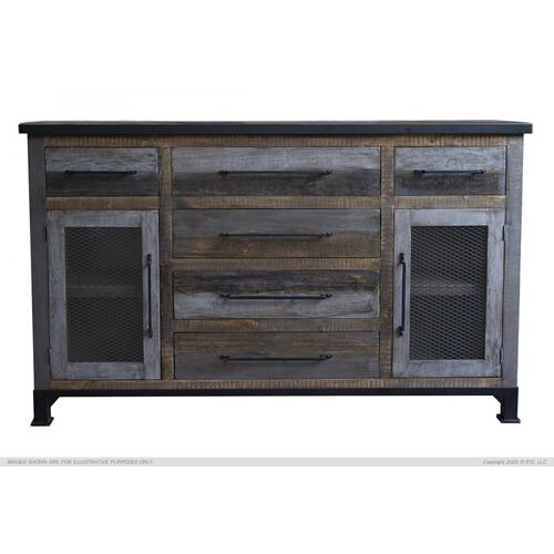 International Furniture Direct - 6 Drawers & 2 Doors, Buffet
