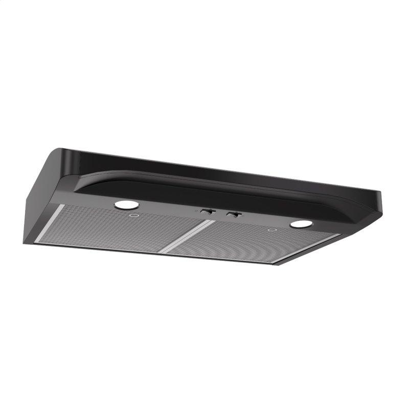 Broan® Elite 30-Inch Convertible Under-Cabinet Range Hood, Black