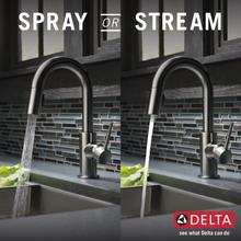Black Stainless Single Handle Pull-Down Bar/Prep Faucet