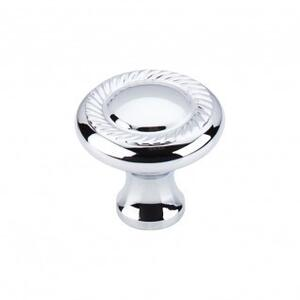 Swirl Cut Knob 1 1/4 Inch - Polished Chrome