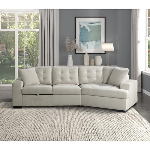 Gallery - Right Side Cuddler with 1 Pillow