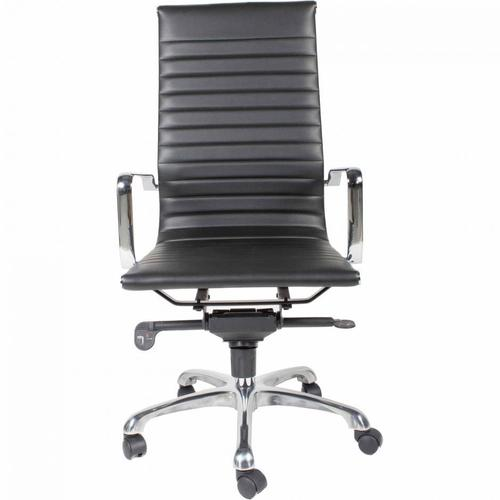 Moe's Home Collection - Omega Swivel Office Chair High Back Black