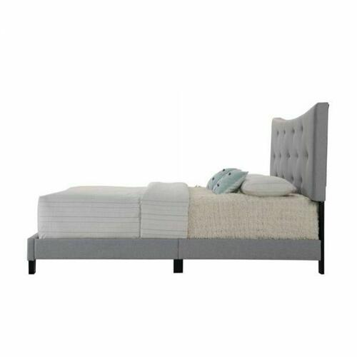 ACME Venacha Queen Bed - 26360Q - Gray Fabric