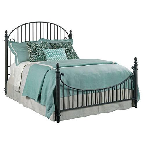 Weatherford Cornsilk Catlins Queen Metal Bed - Complete