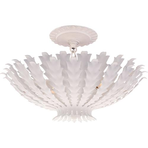 AERIN Hampton 3 Light 17 inch Plaster White Chandelier Ceiling Light, Small