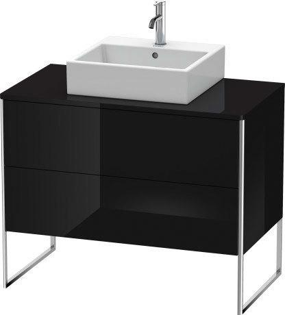 Product Image - Vanity Unit For Console Floorstanding, Black High Gloss (lacquer)