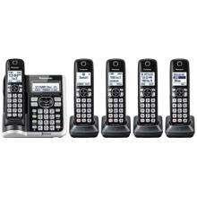 Link2Cell Bluetooth® Cordless Phone with Answering Machine - 5 Handsets - KX-TGF575S