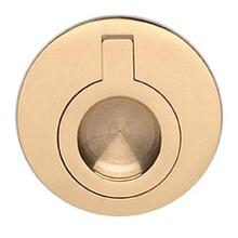 Round Drop Ring in US3 (Polished Brass, Lacquered)