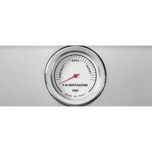 Bertazzoni - 48 inch All-Gas Range 6 Brass Burner and Griddle Nero