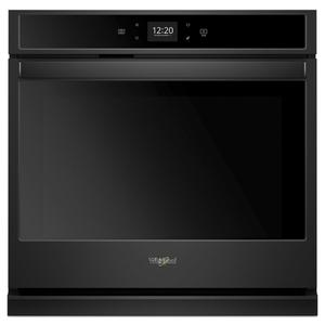5.0 cu. ft. Smart Single Wall Oven with Touchscreen - BLACK