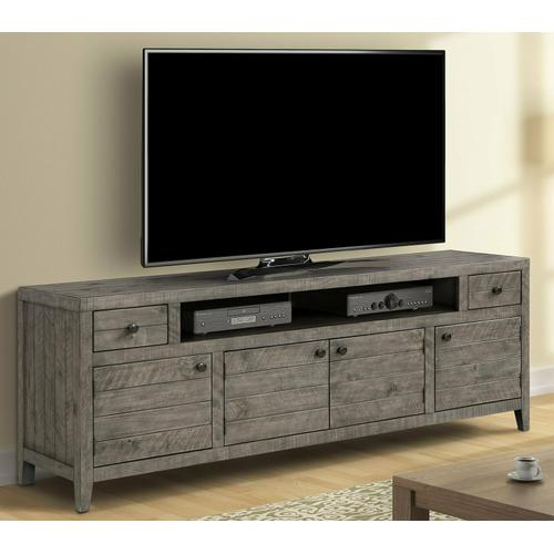 Parker House - TEMPE - GREY STONE 84 in. TV Console