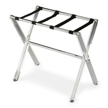 Treat your guests like royalty with the Crystal Clear acrylic luggage rack in your spare bedroom. The collapsible legs fold for easy storage when not in use. The mesh woven straps securely hold even the most well-traveled suitcase.