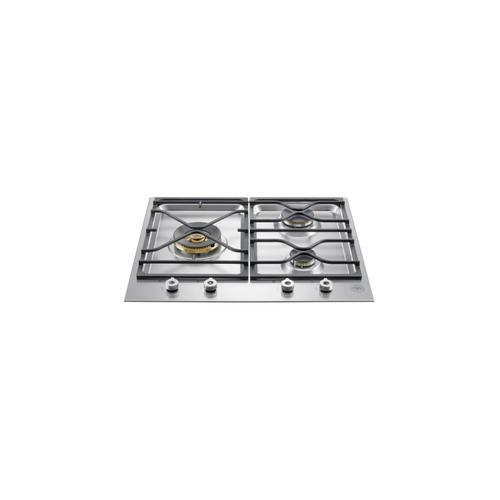 24 Segmented cooktop 3-burner Stainless Steel