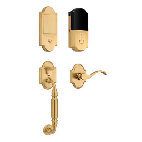 Vintage Brass Canterbury Touchscreen Dummy Handleset