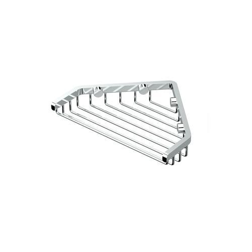 """Corner Shower Basket 7""""W in Satin Nickel"""