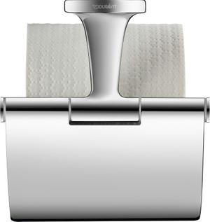 Toilet Paper Holder With Cover, Chrome Product Image