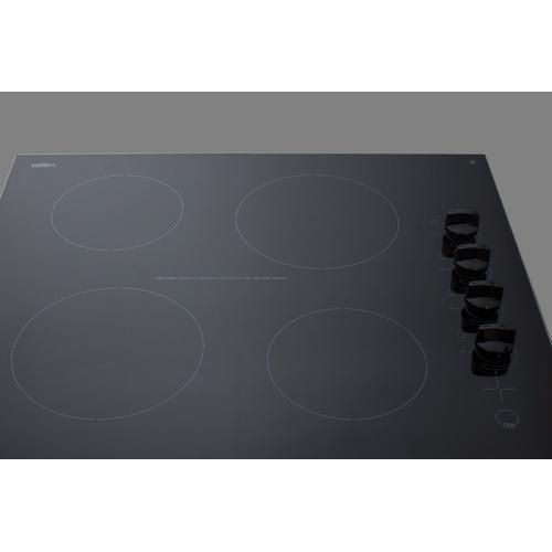 """24"""" Wide 230v 4-burner Radiant Cooktop"""
