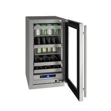 "18"" Beverage Center With Stainless Frame Finish and Left-hand Hinge Door Swing (115 V/60 Hz Volts /60 Hz Hz)"