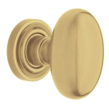Satin Brass and Brown 5025 Estate Knob