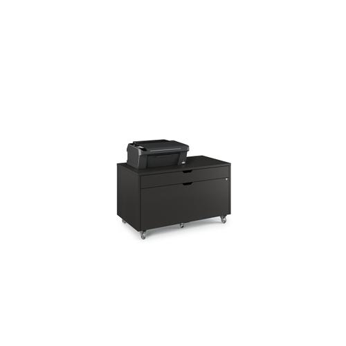 BDI Furniture - Modica 6347 Mobile File Pedestal in Charcoal Stained Ash