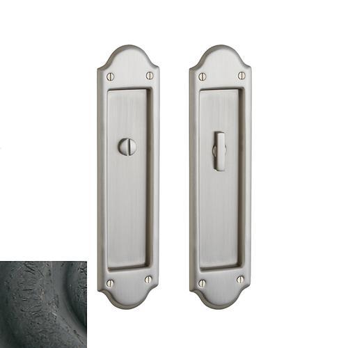 Baldwin - Distressed Oil-Rubbed Bronze PD016 Boulder Pocket Door