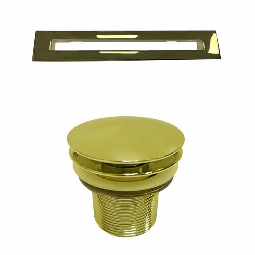 "Pascal 63"" Acrylic Tub with Integrated Drain and Overflow - Polished Brass Drain and Overflow"