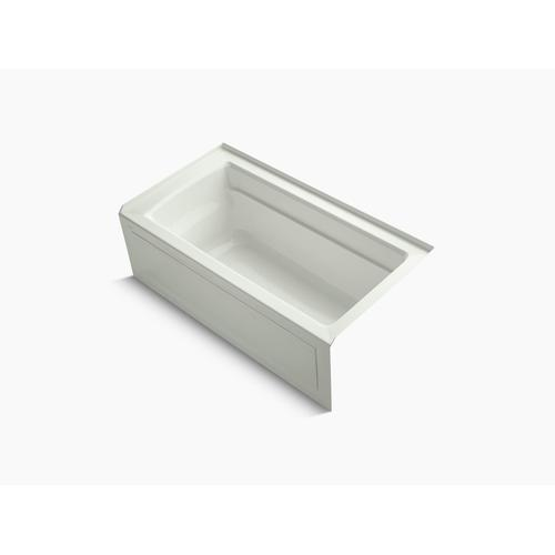 """Dune 60"""" X 32"""" Alcove Bath With Bask Heated Surface, Integral Apron, Integral Flange, and Right-hand Drain"""