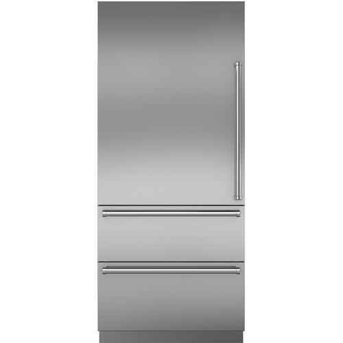 """Sub-Zero - Stainless Steel 36"""" Door Panel with Pro Handle - LH"""
