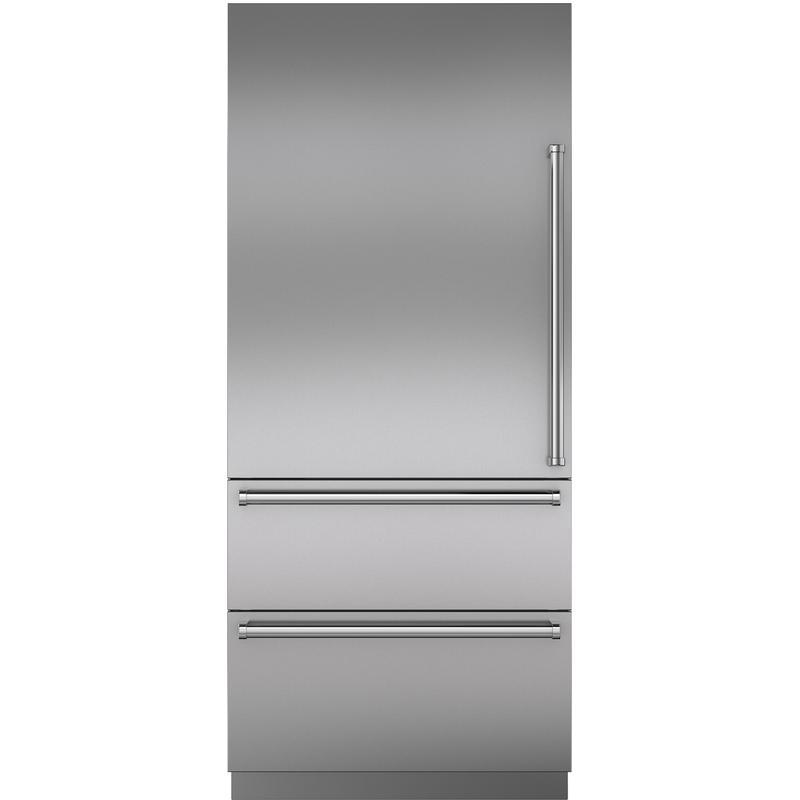 "Stainless Steel 36"" Door Panel with Pro Handle - LH"