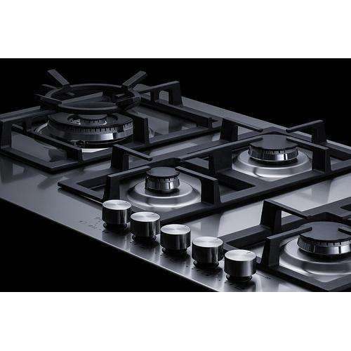 "34"" Wide 5-burner Gas Cooktop In Stainless Steel"