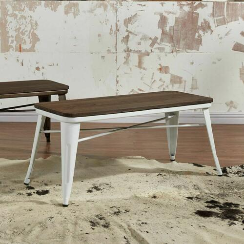 Worldwide Homefurnishings - Modus Bench in White