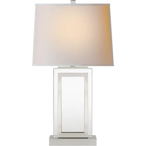Visual Comfort - E. F. Chapman Crystal Panel 30 inch 150.00 watt Polished Nickel Table Lamp Portable Light