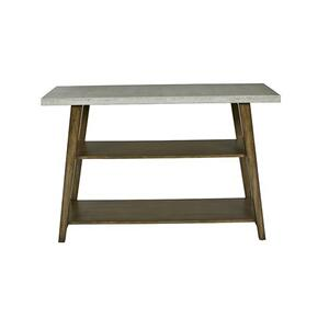 Sofa/Console Table - Concrete Gray/Auburn Finish