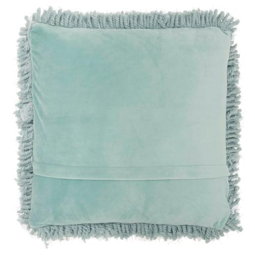 "Shag Tl003 Celadon 18"" X 18"" Throw Pillow"