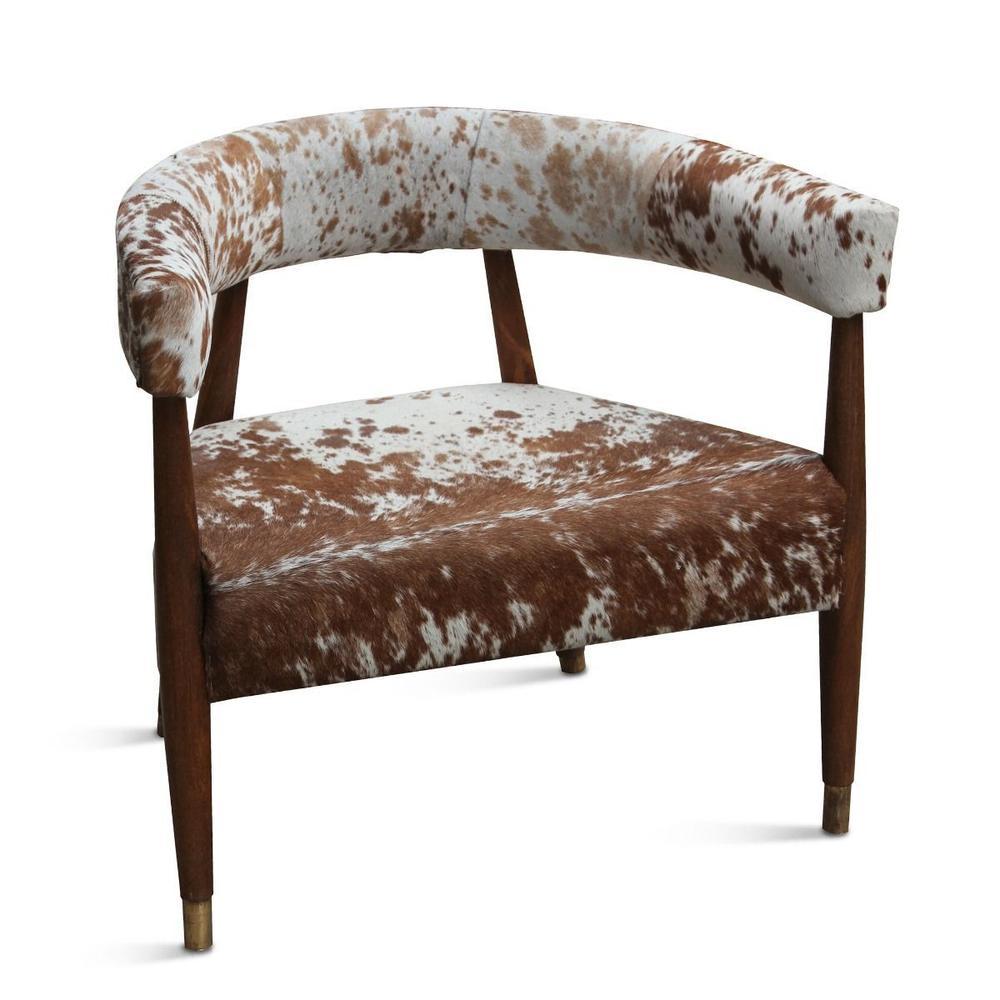 Dallas Stockyard Arm Chair Cowhide