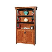 "Mission Oak 24"" & 36"" 2-Door Bookcase"