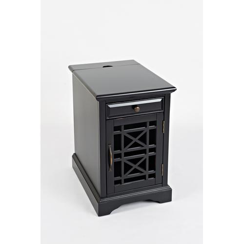 Craftsman Power Chairside Table - Antique Black