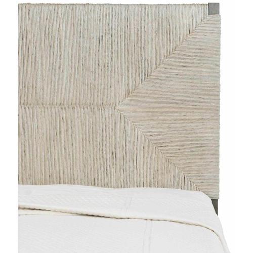 Queen Alannis Woven Panel Bed in Rustic Gray