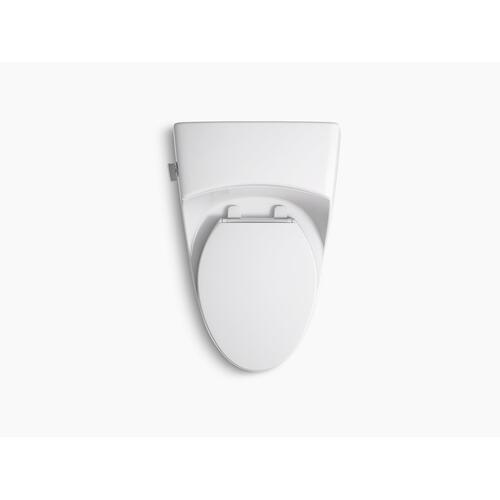 White One-piece Elongated 1.28 Gpf Toilet With Slow Close Seat