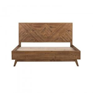 Laval King Size Bed Natural Finish