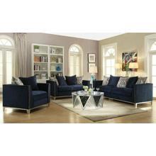 ACME Phaedra Sofa w/5 Pillows - 52830 - Blue Fabric