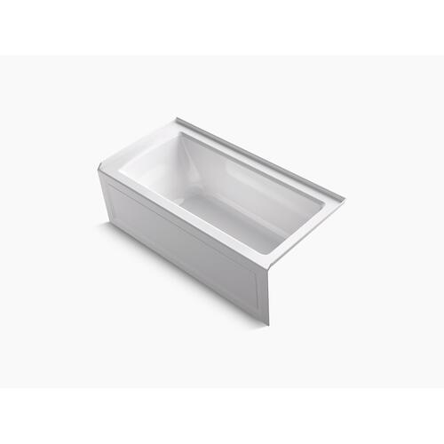 "Ice Grey 60"" X 30"" Alcove Bath With Bask Heated Surface, Integral Apron, Integral Flange, and Right-hand Drain"