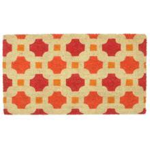 Doormat Dylan Red/Orange 18x30
