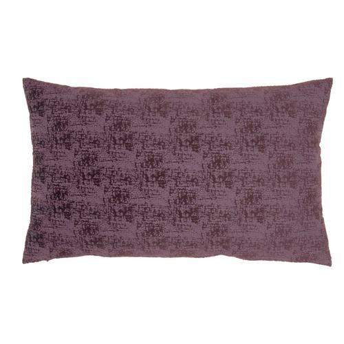 "Life Styles Et438 Plum 14"" X 24"" Throw Pillow"