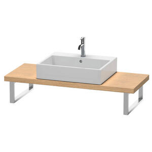 Console For Above-counter Basin And Vanity Basin Compact, European Oak (decor)