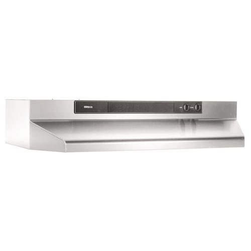 Broan® 24-Inch Convertible Under-Cabinet Range Hood, 220 CFM, Stainless Steel