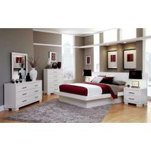 See Details - Jessica Contemporary White Eastern King Four-piece Set