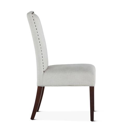 Jones Dining Chair Off-White with Dark Legs